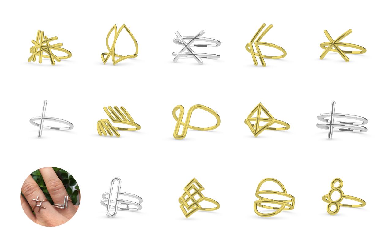 Parametric minimalist ring generator siemen cuypers for Minimal art generator